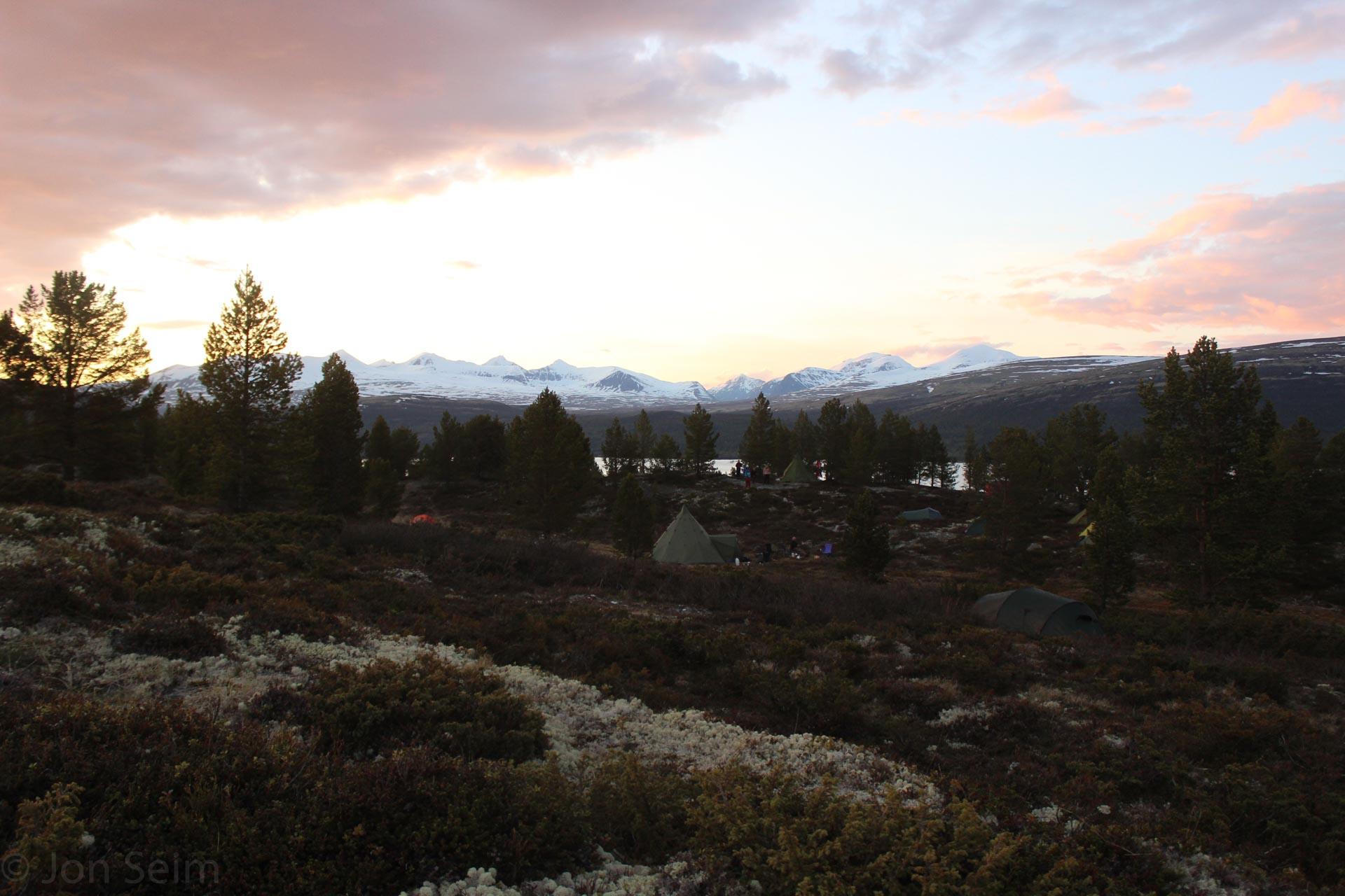 Solnedgang over Rondane
